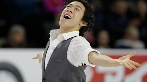 <p>               FILE - In this Friday, Oct. 19, 2018, file photo, Nathan Chen performs during the men's short program at Skate America, in Everett, Wash. U.S. figure skater Chen will be trying to defend his Grand Prix Final title in Vancouver, British Colombia, beginning Thursday, Dec. 6, 2018. (AP Photo/Ted S. Warren, File)             </p>
