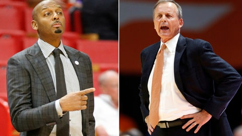 <p>               FILE - At left, in a Dec. 1, 2018, file photo, Memphis head coach Penny Hardaway directs players against Texas Tech during the first half of an NCAA college basketball game at the Air Force Reserve Hoophall Miami Invitational in Miami, Fla. At right, in a Nov. 9, 2018, file photo, Tennessee head coach Rick Barnes yells to his players during the second half of an NCAA college basketball game against Louisiana-Lafayette, in Knoxville, Tenn. This is the stage Penny Hardaway wants at Memphis. Excitement, anticipation and a sell-out crowd for the biggest game the Tigers have played in years. That's the setting for Saturday's, Dec. 15 showdown with No. 3 Tennessee after a nearly six-year break in the series. (AP Photo/File)             </p>