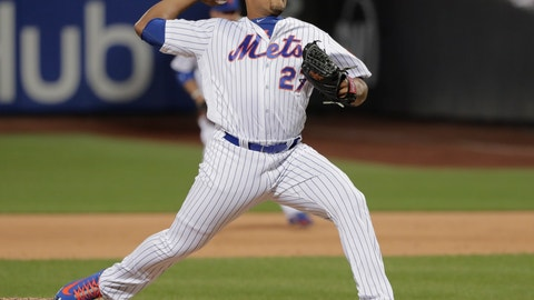 <p>               FILE - In this May 18, 2018, file photo, New York Mets pitcher Jeurys Familia (27) delivers against the Arizona Diamondbacks during the ninth inning of a baseball game in New York.  The revamped Mets bullpen is set to include a very familiar face — longtime reliever Jeurys Familia. Familia reached a free-agent deal with the team that traded him away last summer, a person with knowledge of the contract told The Associated Press late Wednesday night, Dec. 12, 2018. The person spoke on condition of anonymity at the winter meetings because the team had not yet announced the move. Familia likely must pass a physical for the contract to be finalized. (AP Photo/Julie Jacobson, File)             </p>