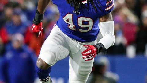 <p>               FILE - In this Oct. 29, 2018, file photo, Buffalo Bills linebacker Tremaine Edmunds (49) moves in during an NFL football game against the New England Patriots, in Orchard Park, N.Y. Edmunds has made great strides since Buffalo traded up to select him with the 16th pick in the draft. (AP Photo/Chris Cecere, File)             </p>