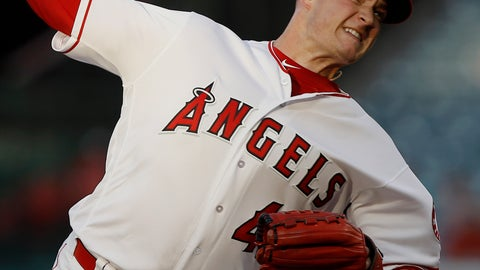 <p>               FILE - In this July 10, 2018, file photo, Los Angeles Angels starting pitcher Garrett Richards delivers to a Seattle Mariners batter during the first inning of a baseball game in Anaheim, Calif. Richards says on Twitter that he's joining the rebuilding San Diego Padres. Multiple reports indicate the right-hander has agreed to a $15 million, two-year contract. Richards had reconstructive elbow surgery in July while with the Los Angeles Angels. Neither the Padres nor Richards' agency would confirm the deal Thursday night, Nov. 29. AP Photo/Alex Gallardo, File)             </p>