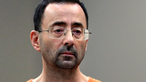 <p>               FILE - In this Nov. 22, 2017, file photo, Larry Nassar, a sports doctor accused of molesting girls while working for USA Gymnastics and Michigan State University appears in court in Lansing, Mich., where he pleaded guilty to multiple charges of sexual assault. Michigan lawmakers on Tuesday, Dec. 4, 2018, advanced more bills inspired by the Nassar sexual abuse case - voting to ease the prosecution of alleged abusers, stiffen child pornography penalties and let more people speak at sentencings under certain circumstances. (AP Photo/Paul Sancya, File)             </p>
