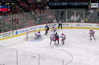 WATCH: Oliver Bjorkstrand takes a perfect feed from Wennberg in a win against New Jersey