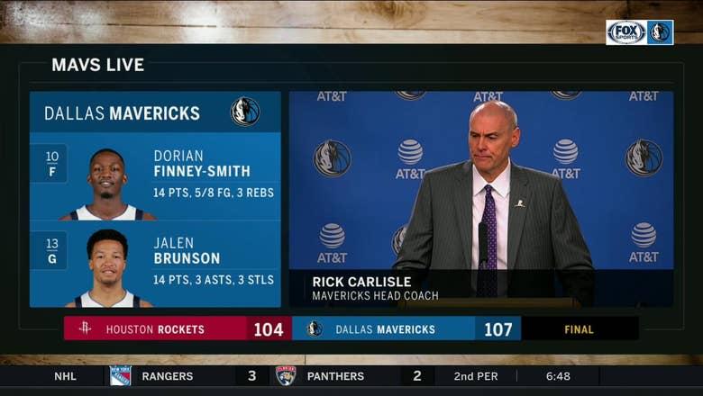 Rick Carlisle on the Mavs Defense in win over Houston