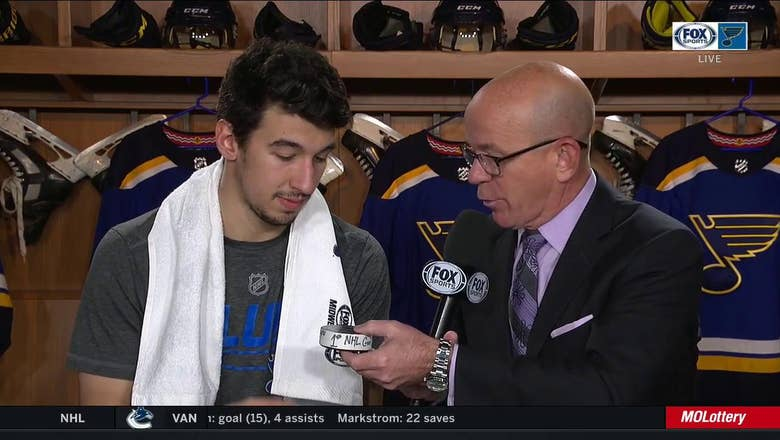 Kyrou on his first NHL goal: 'Feels amazing to get the first one'