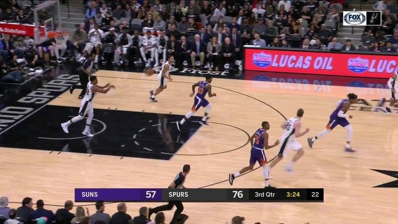VIDEO: Mills Nails Transition 3-Pointer To Extend Spurs Lead To 22