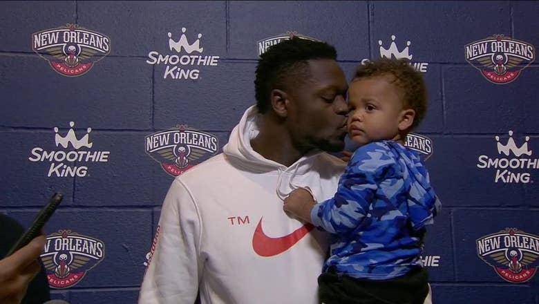 Julius Randle's son steals the show