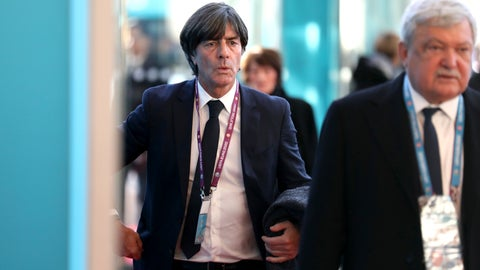 <p>               Germany coach Joachim Loew arrives for the the UEFA Euro 2020 European soccer championship qualifying draw at the Convention Centre in Dublin, Ireland, Sunday, Dec. 2, 2018. (AP Photo/Peter Morrison)             </p>