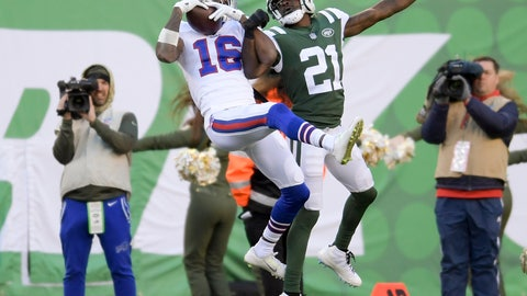<p>               File- This Nov. 11, 2018, file photo shows Buffalo Bills wide receiver Robert Foster (16) making a catch against New York Jets cornerback Morris Claiborne (21) during the fourth quarter of an NFL football game, in East Rutherford, N.J. Foster couldn't help but remember being in the same shoes,  literally and physically. So when a 14-year-old boy was trying on an expensive pair of Adidas Yeezy's, and uncertain if his mother could afford them, the Buffalo Bills rookie receiver stepped in.(AP Photo/Bill Kostroun, File)             </p>