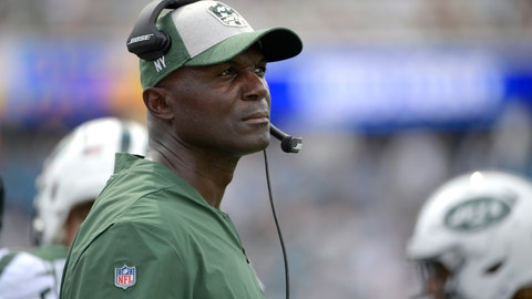 <p>               FILE - In this Sunday, Sept. 30, 2018 file photo, New York Jets head coach Todd Bowles watches from the sideline during the second half of an NFL football game against the Jacksonville Jaguars in Jacksonville, Fla. Todd Bowles' days as the New York Jets' coach are numbered in many people's minds and dwindling quickly. The embattled Bowles appears likely to be among those looking for new jobs the day the NFL's regular season ends, if not sooner. That uncertainty has not affected the coach's approach, even as rumors swirl about what many deem an inevitable unhappy ending. (AP Photo/Phelan M. Ebenhack, File)             </p>