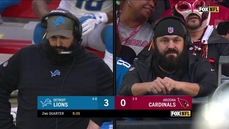 Matt Patricia's doppelgänger was in the stands for Lions vs. Cardinals