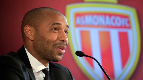 <p>               FILE - In this file photo dated Wednesday, Oct. 17, 2018,  Thierry Henry is named AS Monaco head coach during his official media presentation in Monaco. When they played together for Arsenal, Thierry Henry and Patrick Vieira knew the importance of getting on well as team mates, but they will be plotting how to undo one another as managerial rivals as Henry's struggling Monaco takes on Vieira's consistent Nice, when they meet Friday Dec. 7, 2018.  (AP Photo/Olivier Anrigo, FILE)             </p>