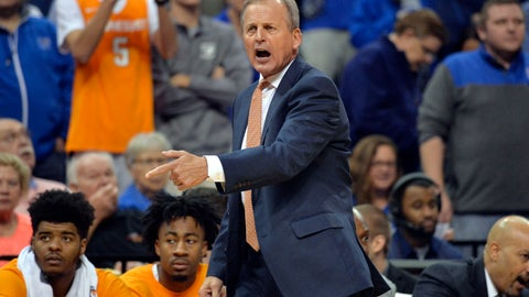 <p>               FILE - In this Dec. 15, 2018, file photo, Tennessee head coach Rick Barnes calls to players in the first half of an NCAA college basketball game against Memphis in Memphis, Tenn. The schools that shared the Southeastern Conference regular-season championship last year head into league competition as prime contenders for the title again. Third ranked Tennessee and No. 12 Auburn are the SEC's highest-ranked teams with league play starting Jan. 5, 2019. (AP Photo/Brandon Dill, File)             </p>