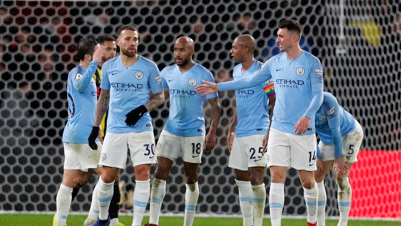 Man City beats Watford 2-1, moves 5 points clear in EPL
