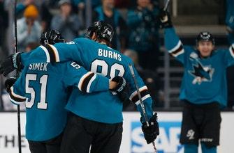 Meier's 2 goals lead Sharks past Devils 5-2
