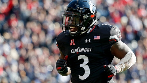 <p>               FILE - In a Saturday, Nov. 3, 2018 file photo, Cincinnati running back Michael Warren II celebrates after scoring a touchdown in the first half of an NCAA college football game against Navy, in Cincinnati. Virginia Tech (6-6) must defeat Cincinnati in the Military Bowl on Monday, Dec. 31 to avoid its first losing season since 1992.(AP Photo/John Minchillo, File)             </p>