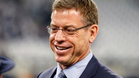 "<p>               FILE - In this Sunday, Jan. 15, 2017 file photo, Troy Aikman watches warm ups before an NFL divisional playoff football game between the Green Bay Packers and the Dallas Cowboys in Arlington, Texas. Thursday night football is here to stay, even if it's gone for the rest of 2018.  In past years, some make that many would have said ""good riddance."" That would be misguided this year. First off, Fox's presentation generally was strong and on target.  (AP Photo/Michael Ainsworth, File)             </p>"