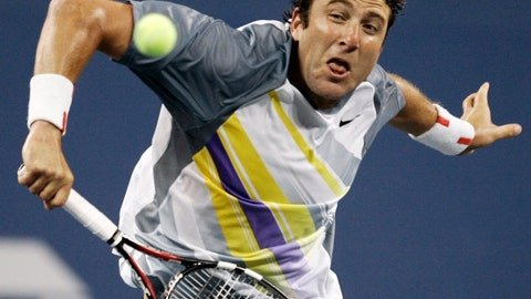 <p>               FILE - In this Aug. 28, 2007 file photo, Justin Gimelstob returns a shot to Andy Roddick at the US Open tennis tournament in New York. Now a tennis broadcaster and coach, Gimelstob faces a felony assault charge following his Halloween night arrest for allegedly attacking former friend Randall Kaplan in Los Angeles. The 41-year-old former pro player is scheduled to appear in court Wednesday, Dec. 18, 2018. (AP Photo/Ed Betz, File)             </p>