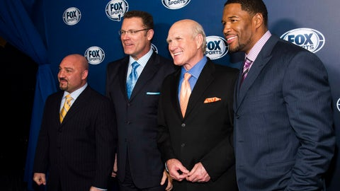<p>               FILE - This March 5, 2013, file photo shows Jay Glazer, from left, Howie Long, Terry Bradshaw and Michael Strahan attending the Fox Sports Media Upfront party celebrating the new Fox Sports 1 network in New York. Bradshaw thought his career as a football analyst was over in 1993 when CBS lost the NFL rights to Fox. Instead of going back to cattle ranching, he has had a front-row seat to the biggest sports broadcasting story of the past quarter century.  (Photo by Charles Sykes/Invision/AP, File)             </p>