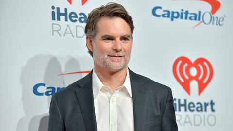 LAS VEGAS, NEVADA - SEPTEMBER 22: (EDITORIAL USE ONLY; NO COMMERCIAL USE)  Jeff Gordon arrives at the iHeartRadio Music Festival at T-Mobile Arena on September 22, 2018 in Las Vegas, Nevada. (Photo by Sam Wasson/Getty Images for iHeartMedia)