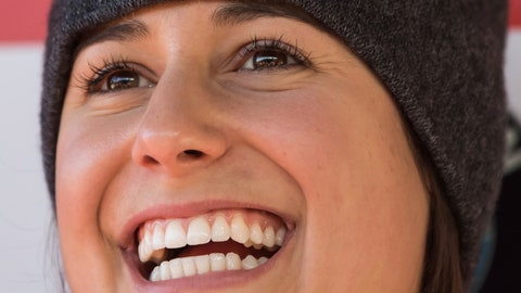 <p>               Emily Sweeney, of the United States, smiles after racing to a third-place finish during a World Cup women's luge event  in Whistler, British Columbia, on Saturday, Dec. 1, 2018. (Darryl Dyck/The Canadian Press via AP)             </p>
