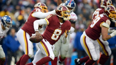 <p>               FILE - In this Dec. 9, 2018, file photo, Washington Redskins quarterback Josh Johnson runs with the ball during the second half of an NFL football game against the New York Giants, in Landover, Md. (AP Photo/Nick Wass)             </p>