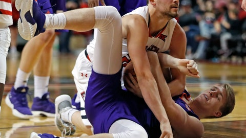 <p>               Texas Tech's Avery Benson (24) tries to steal the ball from Northwestern State's Jacob Guest (14) during the second half of an NCAA college basketball game, Wednesday, Dec. 12, 2018, in Lubbock, Texas. (AP Photo/Brad Tollefson)             </p>