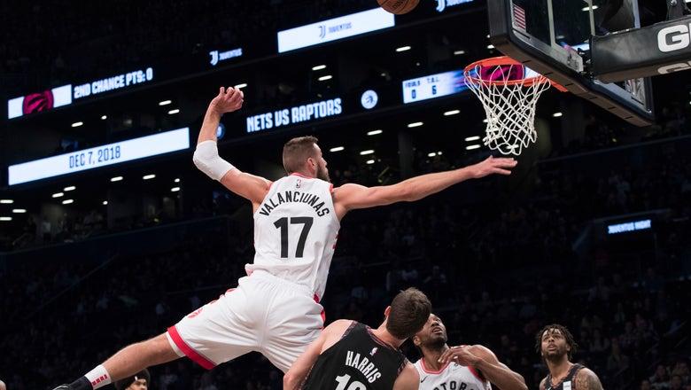 Nets end 8-game skid by edging Raptors 106-105 in OT