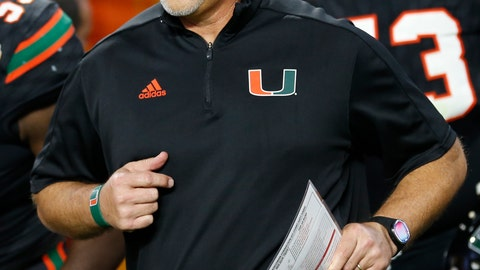 <p>               FILE - In this Dec. 30, 2017, file photo, Miami head coach Mark Richt enters the field during the second half of the Orange Bowl NCAA college football game against Wisconsin, in Miami Gardens, Fla. Some traditional recruiting heavyweights have plenty of work to do in the next several weeks to sign the level of talent they usually attract each year. As college football's early signing period concluded Friday, Southern California was outside the top 20 and Miami wasn't in the top 30 of the team standings in composite rankings of recruiting sites compiled by 247Sports. (AP Photo/Joe Skipper, File)             </p>
