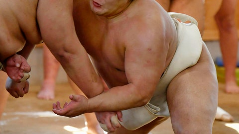<p>               In this Nov. 1, 2018, photo, sumo wrestler Takanoiwa, right, works out in a morning practice ahead of a tournament in Fukuoka, western Japan. The Mongolian wrestler has decided to retire after assaulting a younger wrestler during the ongoing regional tour in the latest blow to Japan's national sport.(Kyodo News via AP)             </p>