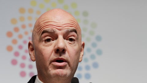 <p>               FIFA President Gianni Infantino speaks during a press conference at the G20 Leader's Summit in Buenos Aires, Argentina, Saturday, Dec. 1, 2018. (AP Photo/Natacha Pisarenko)             </p>