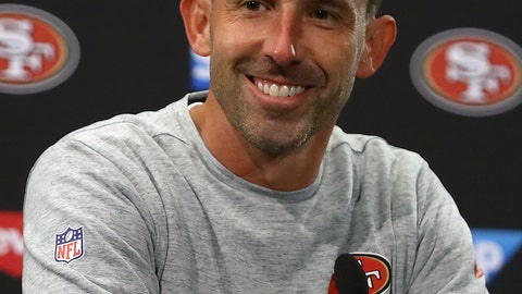 <p>               FILE - In this Nov. 1, 2018, file photo, San Francisco 49ers head coach Kyle Shanahan speaks at a news conference after an NFL football game against the Oakland Raiders, in Santa Clara, Calif. Shanahan now gets the chance to coach against the franchise he spent so much time around as a kid when the 49ers (2-10) host the Broncos (6-6) on Sunday. (AP Photo/Ben Margot, File)             </p>