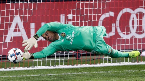 <p>               FILE - In this Nov. 29, 2017, file photo, Columbus Crew goalkeeper Zack Steffen makes a save on a penalty kick from Toronto FC midfielder Victor Vazquez, not shown, during the first half of an Eastern Conference MLS final playoff soccer game in Toronto. American goalkeeper Zack Steffen will transfer to Manchester City from the Columbus Crew in July. The Crew said Tuesday, Dec. 11, 2018, that Steffen will join City when the summer transfer window opens July 9.(Mark Blinch/The Canadian Press via AP, File)             </p>
