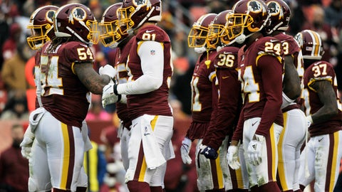 <p>               FILE - In this Sunday, Dec. 9, 2018 file photo, Washington Redskins defense huddles during an NFL football game against the New York Giants in Landover, Md. The Washington Redskins have lost four in a row, are down to their fourth quarterback and are mired in criticism from several players. A once-promising season has gone off the rails thanks to injuries all over the offense and a defense full of blown assignments and missed tackles. The finger-pointing is well underway for a team that has fallen to 6-7 and has plenty of blame to go around. (AP Photo/Mark Tenally, File)             </p>