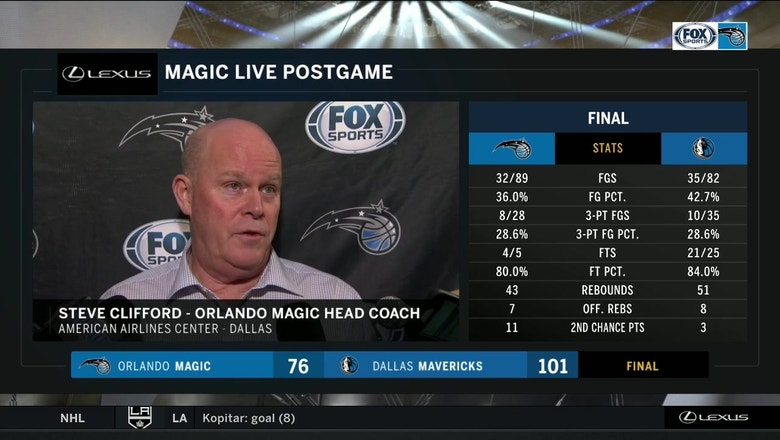 Steve Clifford on loss: 'We weren't as crisp as we needed to be'