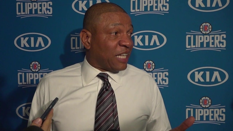 """Doc Rivers: """"In the second half we showed some grit."""""""