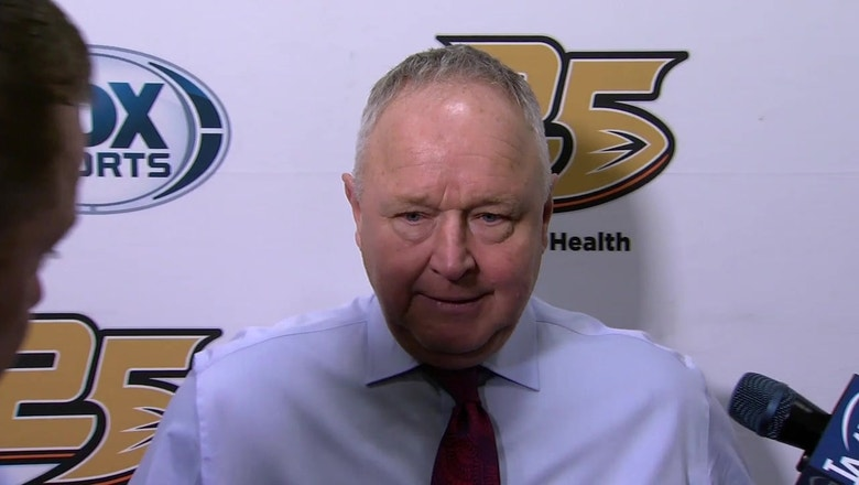 Ducks head coach Randy Carlyle comments on the 6-3 win