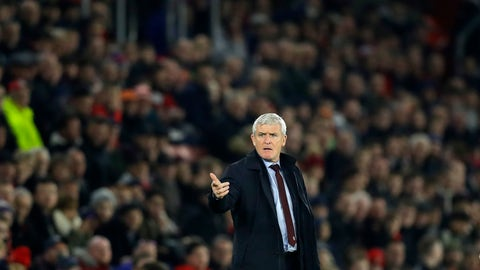 <p>               Southampton's manager Mark Hughes gives instructions from the side line during the English Premier League soccer match between Southampton and Manchester United at St Mary's stadium in Southampton, England Saturday, Dec. 1, 2018. (AP Photo/Kirsty Wigglesworth)             </p>