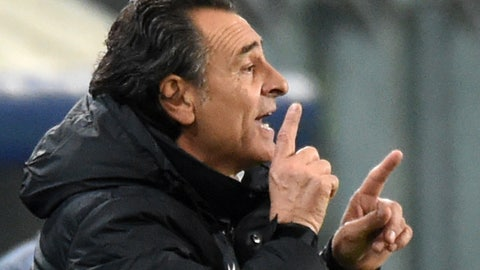 <p>               FILE - In this Nov. 26, 2014 file photo, Galatasaray's head coach Cesare Prandelli gives directions to his players during the Group D Champions League match between Anderlecht and Galatasaray at Constant Vanden Stock Stadium in Brussels, Belgium. Genoa announced on Friday, Dec. 7, 2018 that it has appointed former Italy manager Cesare Prandelli as its new coach, replacing Ivan Juric, who was sacked by the club for a third time following bad results.  (AP Photo/Geert Vanden Wijngaert, file)             </p>