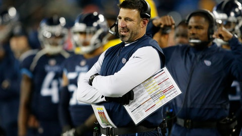 <p>               FILE - In this Thursday, Dec. 6, 2018 file photo, Tennessee Titans head coach Mike Vrabel watches play against the Jacksonville Jaguars during the first half of an NFL football game in Nashville, Tenn. Titans coach Mike Vrabel is trying to ignore any playoff chatter as his team heads to the Meadowlands to face the Giants, Sunday, Dec. 16, 2019.(AP Photo/James Kenney, File)             </p>