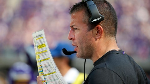 <p>               FILE - In this Sept. 23, 2018, file photo, Minnesota Vikings offensive coordinator John DeFilippo looks at his play sheet during the second half of an NFL football game against the Buffalo Bills, in Minneapolis. Minnesota's offense has been up and down this season under new coordinator DeFilippo and new quarterback Kirk Cousins, and the Vikings have had a lot of rough spots to try to smooth out down the final stretch. (AP Photo/Bruce Kluckhohn, File)             </p>