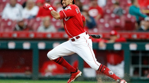 <p>               FILE - In this Sept. 9, 2018, file photo, Cincinnati Reds' Billy Hamilton takes off for first base with a single off San Diego Padres relief pitcher Rowan Wick during the seventh inning of a baseball game, in Cincinnati.  A person familiar with the negotiations says the Kansas City Royals and outfielder Billy Hamilton have agreed to a $5.25 million contract for next season that includes up to $1 million in incentives. The person spoke to The Associated Press on condition of anonymity Monday, Dec. 10, 2018,  because the deal was pending a physical.  The career .236 hitter's biggest attribute is his speed — he stole at least 50 bases four straight seasons before dipping to 34 last season. (AP Photo/Gary Landers, File)             </p>