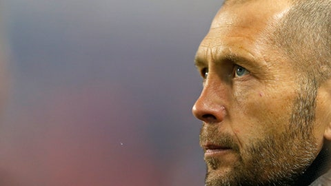 <p>               FILE - This Nov. 11, 2018, file photo shows Columbus Crew head coach Gregg Berhalter before a soccer game against the New York Red Bulls in Harrison, N.J. Berhalter has been hired to coach the U.S. men's national team, making him the first person to run the team after playing for the Americans at the World Cup. (AP Photo/Adam Hunger, File)             </p>