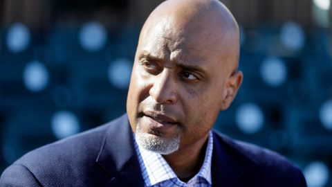<p>               FILE - In this March 17, 2015, file photo, Major League Baseball Players Association executive director Tony Clark talks to the media before a spring training exhibition baseball game in Lakeland, Fla. Baseball players are concerned the Seattle Mariners have become yet another rebuilding team and may be joined by others. Union head Tony Clark and new collective bargaining director Bruce Meyer said Wednesday, Dec. 5, 2018 their members also are concerned about rapid change in the way games are played, such as the increased use of relief pitchers, and are willing to speak with management this offseason about whether counteracting changes are needed.(AP Photo/Carlos Osorio, File)             </p>