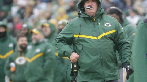 <p>               Green Bay Packers' Head Coach Mike McCarthy watches a replay on the scoreboard during the first half of an NFL football game against the Arizona Cardinals Sunday, Dec. 2, 2018, in Green Bay, Wis. (AP Photo/Mike Roemer)             </p>
