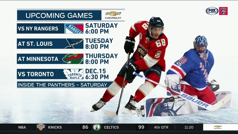 Panthers cap homestand with critical matchup against Rangers