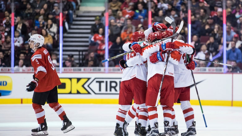 Russia beats Switzerland 7-4 in world junior hockey