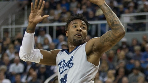 <p>               Nevada forward Jordan Caroline (24) takes a jump shot against South Dakota State in the first half of an NCAA college basketball game in Reno, Nev., Saturday, Dec. 15, 2018. (AP Photo/Tom R. Smedes)             </p>