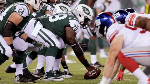<p>               FILE - In this Aug. 24, 2018, file photo, New York Jets center Jonotthan Harrison (78) prepares to snap the ball during the fourth quarter of the team's preseason NFL football game against the New York Giants in East Rutherford, N.J. Harrison endured years of bullying while growing up in central Florida, but refused to let any of it stop him from achieving his goals. (AP Photo/Julio Cortez, File)             </p>