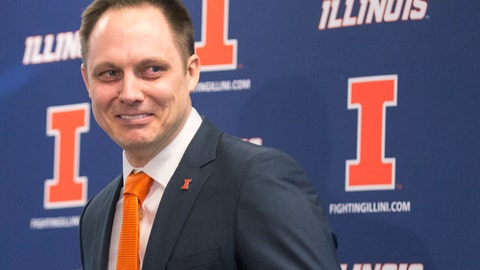 <p>               FILE - In this Feb. 10, 2017, file photo, Illinois volleyball coach Chris Tamas smiles as he was introduced during a news conference in Champaign, Ill. It will be a classic mentor-mentee matchup when defending national champion Nebraska and Illinois meet in the NCAA volleyball semifinals in Minneapolis on Thursday night, Dec. 13, 2018. Tamas was an assistant to Nebraska coach John Cook in the 2015-16 seasons. (Robin Scholz/The News-Gazette via AP, File)             </p>